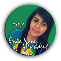 Erika for Pres buttonnm